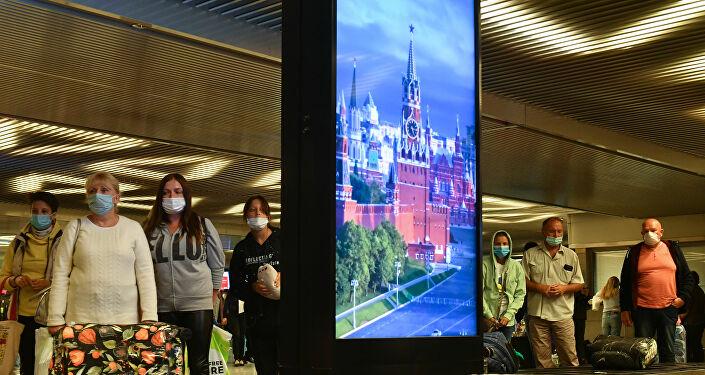 Maske - koronavirüs - Rusya - Moskova - havlimanı