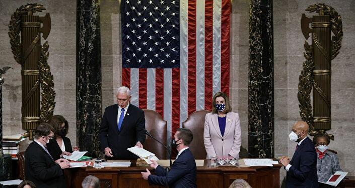 Joe Biden'ın başkanlığının tescillendiği ABD Kongresi oturumu