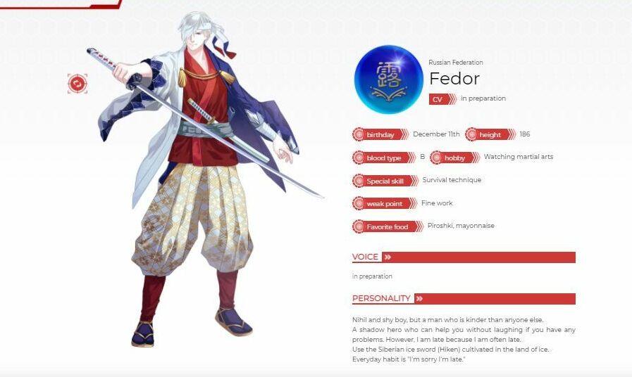 Rusya için çizilen 'Fedor' isimli karakter