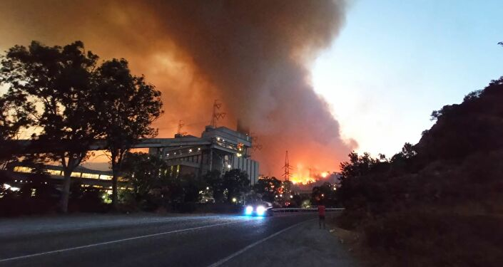 Kemerköy Termik Santrali-yangın