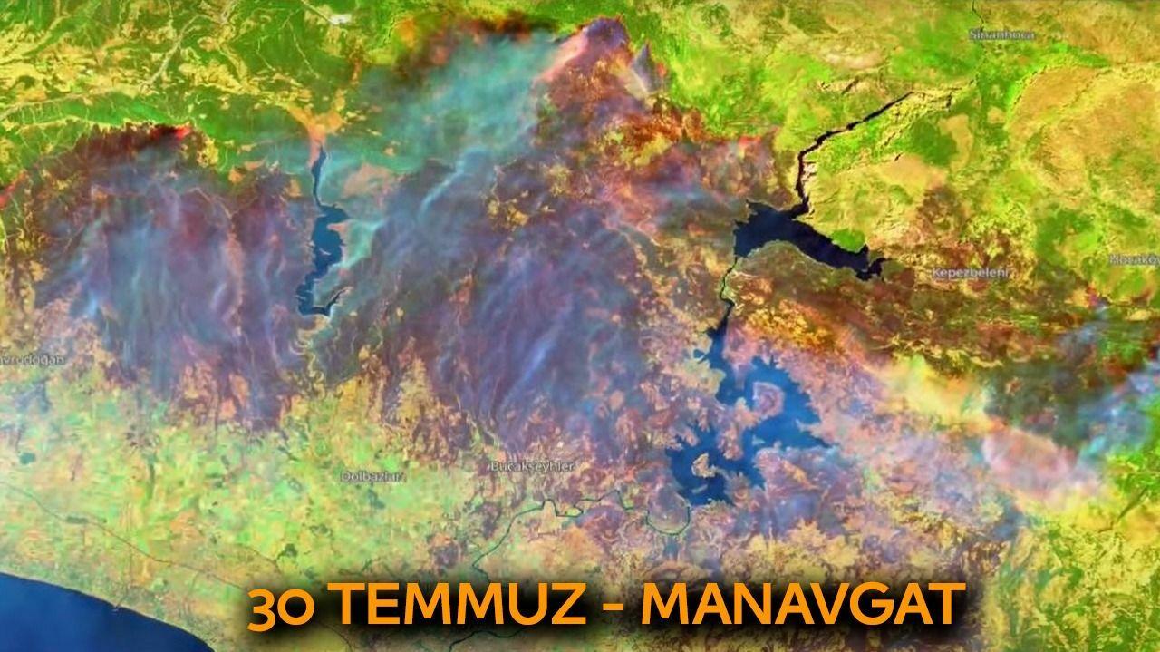 Manavgat'ta kaybedilen ormanlık alan